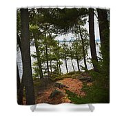 A Path To The Point Shower Curtain