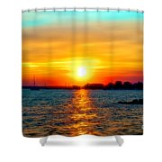 A Path To The Sun Shower Curtain