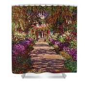 A Pathway In Monets Garden Giverny Shower Curtain by Claude Monet