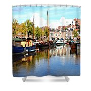 A Peaceful Canal Scene - The Netherlands L B Shower Curtain