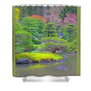 A Peaceful Garden Shower Curtain