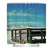 A Peaceful Pier Shower Curtain