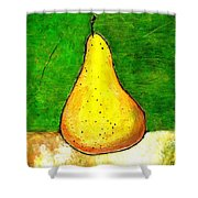 A Pear 2 Shower Curtain