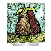 A Pear Pair Shower Curtain