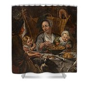 A Peasant Family Dining Shower Curtain