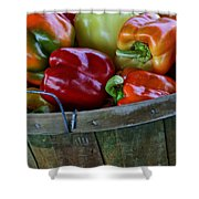 A Peck Of Peppers Shower Curtain