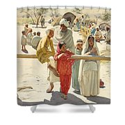 A Peep At The Train, India, 1892 Shower Curtain