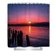 A Pend Oreillle Sunrise Shower Curtain