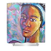 A Pensive Moment Shower Curtain