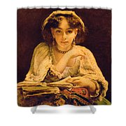 A Pensive Moment Shower Curtain by John Ballantyne