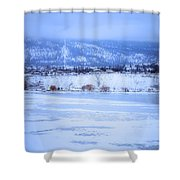 A Penticton Winter Shower Curtain