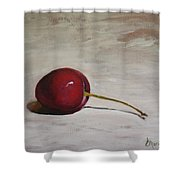 A Perfect Cherry Shower Curtain