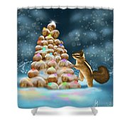 A Perfect Christmas Tree Shower Curtain