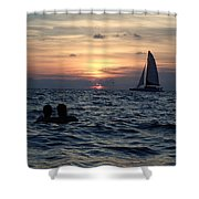 A Perfect Days End Shower Curtain