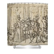 A Performance By The Commedia Dell'arte Shower Curtain