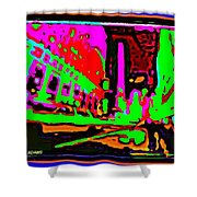 A Peter Max City Shower Curtain