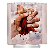 A Pigs Life Shower Curtain