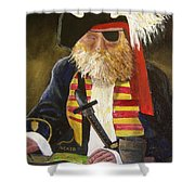 A Pirate's Life Shower Curtain