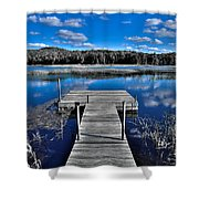 A Place To Dock On The Moose Shower Curtain