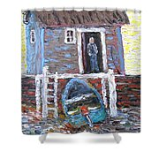 A Place To Get Away From It All Shower Curtain