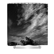 A Plane In The Clouds Shower Curtain
