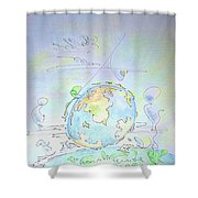 A Planet Remembered Shower Curtain