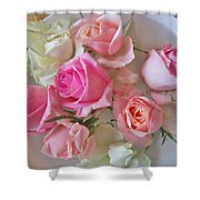 A Plate Of Roses Shower Curtain