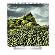 A Pointed Hilltop Shower Curtain