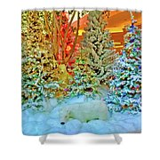 A Polar Bear Christmas 2 Shower Curtain