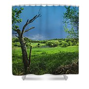 A Pond Just Outside Of Imre... Shower Curtain