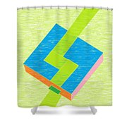 A Pool And A Path Shower Curtain