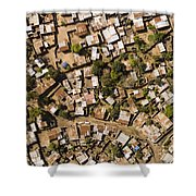 A Poor Neighborhood In Urban Maputo Shower Curtain