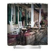 A Porch On The Bay Shower Curtain