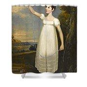 A Portrait Of Ellen Smith Of Nottingham Shower Curtain