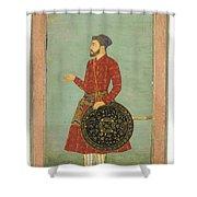 A Portrait Of Khan Zaman Shower Curtain