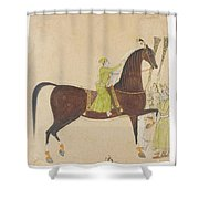 A Portrait Of The Royal Stallion Shower Curtain