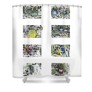 A Potters Garden Shower Curtain
