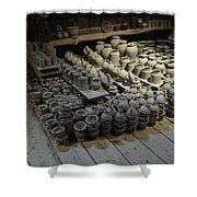 A Potter's Storehouse Shower Curtain