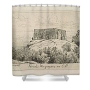 A Powder Magazine In Central Park From Scenes Of Old New York, By Henry Farrer, 1844-1903 Shower Curtain