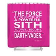A Powerful Sith Shower Curtain
