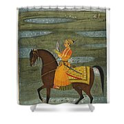 A Prince Riding In A Landscape Shower Curtain