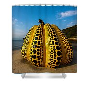 The Pumpkin Of Naoshima Shower Curtain