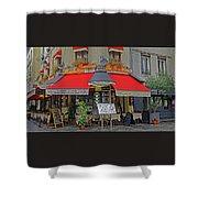A Quaint Restaurant In Paris, France Shower Curtain