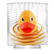 A Quick Dip Shower Curtain by Martin Williams