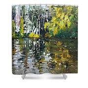 A Quiet Afternoon Reflection Shower Curtain