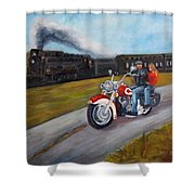 A Race In Time Shower Curtain