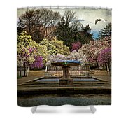 A Rainy Day In Magnolia Season Shower Curtain