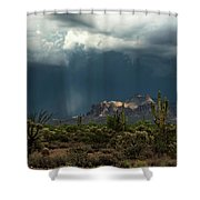 A Rainy Evening In The Superstitions  Shower Curtain