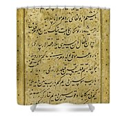 A Rare Calligraphic Panel Shower Curtain