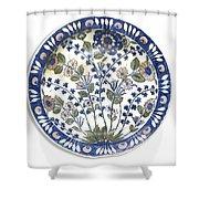 A Rare Iznik Damascus Shower Curtain
